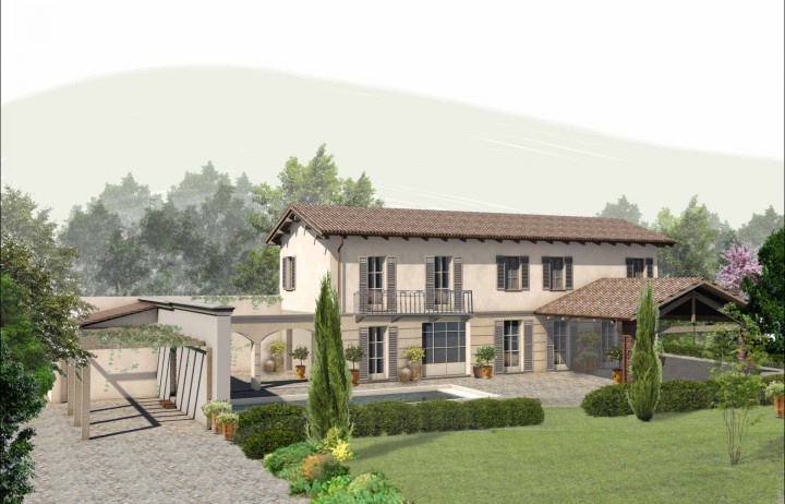 Farmhouse under restructuring in Monferrato